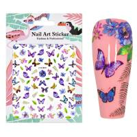 Nailart Sticker Butterfly 1