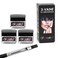 CH Nails Premiumline 3-vaihe UV-Geelipakkaus 3 x 15ml