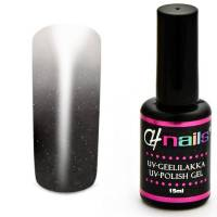 CH Nails Thermo Gel Lack Anthracite-White Metallic