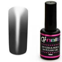 CH Nails Thermo Gel Lack Anthracite-White
