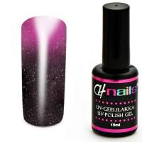 CH Nails Thermo Gel Lack Darknude-Pink Metallic