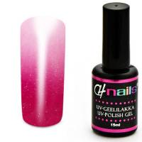 CH Nails Thermo Gel Lack Magenta-White Metallic