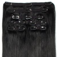 Premium Clip-In Hair Extension 7-pcs 140g/50cm 1#