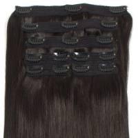 Premium Clip-In Hair Extension 7-pcs 140g/50cm 1B#