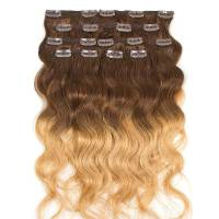 Clip-In Hair Extension Ombre 8pcs / 120g / 45cm 4 / 6 / 27