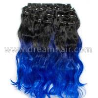 Clip-In Ombre 8-pcs 50cm/160g 1B/Hyacinth/Blue#