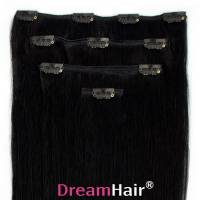 Clip-In Hair Extension 4pcs 40cm 1#