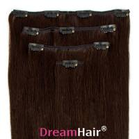 Clip-In Hair Extension 4pcs 30cm 1B#