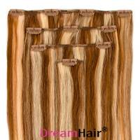 Clip-In Hair Extension 4pcs 40cm P8/24#
