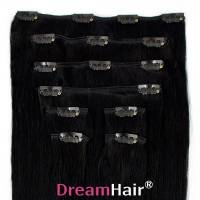 Clip-In Hair Extension 8pcs 40cm 1#