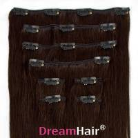 Clip-In Hair Extension 8pcs 50cm 1B#