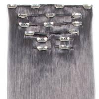 Clip-On Hiustenpidennys 8-os 50cm Dark Grey#