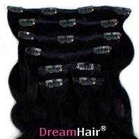 Clip-In Hair Extension 8pcs Wave 60cm 1#
