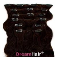 Clip-In Hair Extension 8pcs Wave 60cm 1B#