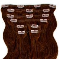 Clip-In Hair Extension 8pcs Wave 60cm 4#