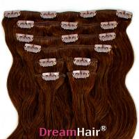 Clip-In Hair Extension 8pcs Wave 40cm 4#