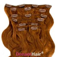 Clip-In Hair Extension 8pcs Wave 60cm 8#