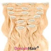 Clip-In Hair Extension 8pcs Wave 40cm Whiteblond