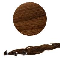 Nail Tip Hair Extension L-Wave 40cm 25kpl 4#