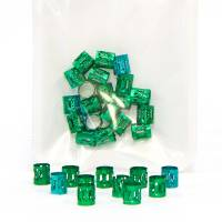Hair Jewellery Green 20 pcs
