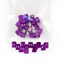 Hair Jewellery Purple 20 pcs