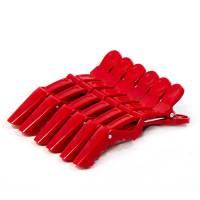 Muoviklipsi Punainen 6 kpl