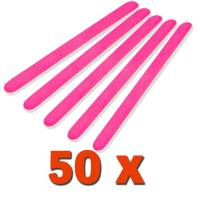 Professional File Straight Neon Pink 180/240 50pcs pack