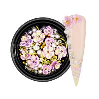 3D Pearls Flower Mix Pink