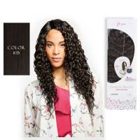 Premium Blended Beach Curl Weave & Closure 1B#