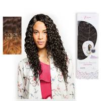Premium Blended Beach Curl Weave & Closure DXR273#
