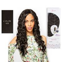 Premium Blended Natural Curl Weave & Closure 1B#