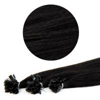 Nail Tip Hair Extension 40cm 25kpl 1#