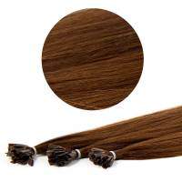 Nail Tip Hair Extension 40cm 25pcs 4#