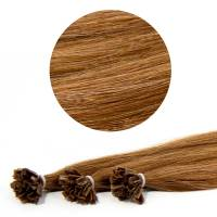 Nail Tip Hair Extension 40cm 25kpl 8#