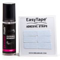DreamHair Tape Extension Adhesive Remover 125ml + EasyTape Tape Tabs 12pcs