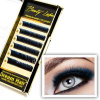 Premium Mink Eyelashes Two Tone Blue/Black C-Curl 0.15T / Mix 10-12mm