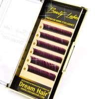 Premium Mink Eyelashes Two Tone Purple/Black C-Curl 0.15T / Mix 10-12mm