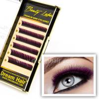 Premium Minkkiripset Two Tone Purple/Black C-Curl 0.15T / Mix 10-12mm