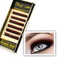 Premium Mink Eyelashes Two Tone Red/Black C-Curl 0.15T / Mix 10-12mm