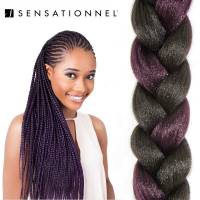 X-Pression Ultra Braid #1B/Purple